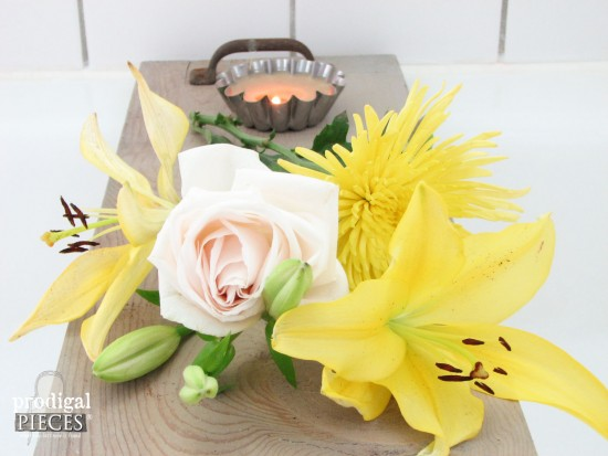 Bathtub Tray with Blooms | prodigalpieces.com