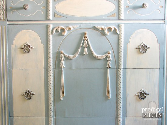 Intricate Details with Chalky Finish Paint by Larissa of Prodigal Pieces | prodigalpieces.com