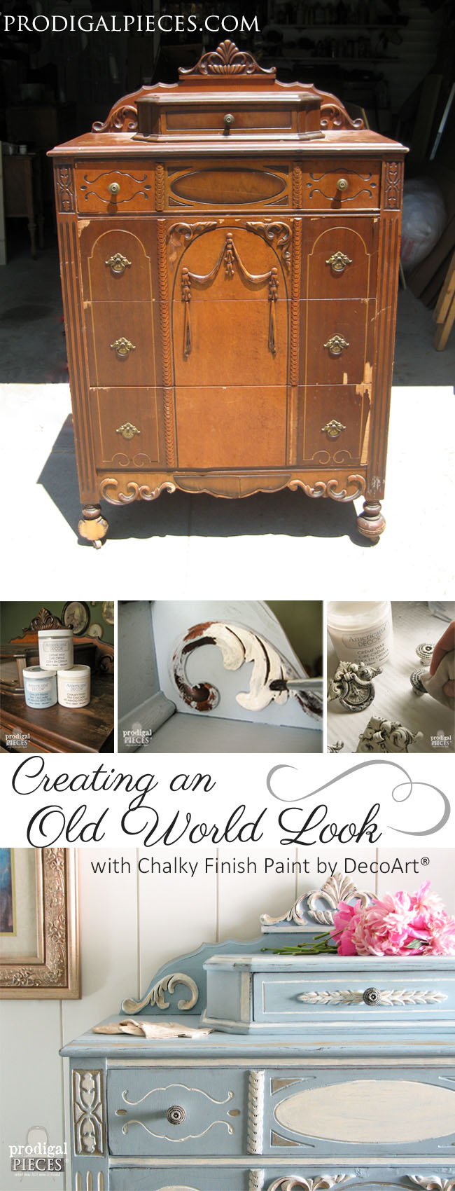 Creating an Old Work Look with Paint by Prodigal Pieces | www.prodigalpieces.com