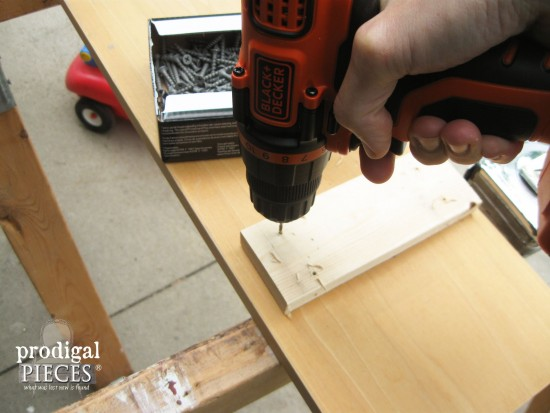 Drilling Wood for Bathtub Tray | prodigalpieces.com