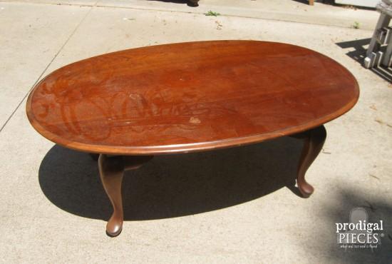 Vintage Queen Anne Table Before   prodigalpieces.com