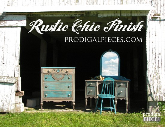 Rustic Chic Finish by Prodigal Pieces - You can create this look with paint and stain www.prodigalpieces.com #prodigalpieces