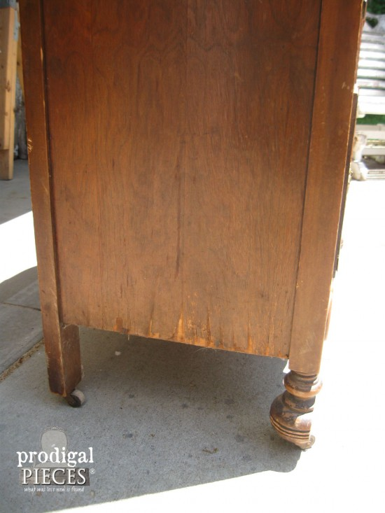 Snagged Veneer on Chest of Drawers | prodigalpieces.com