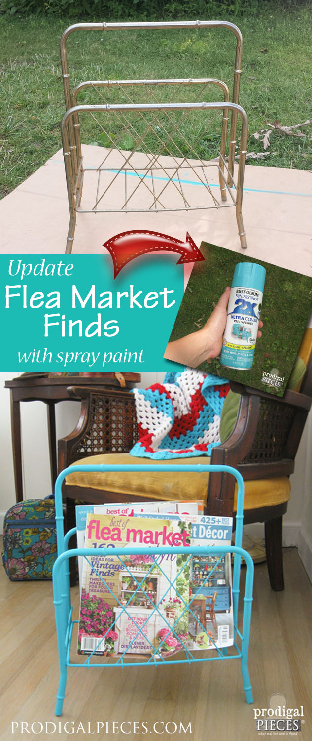 With a can of spray paint, you can update those flea market finds in no time. By Prodigal Pieces | prodigalpieces.com #prodigalpieces