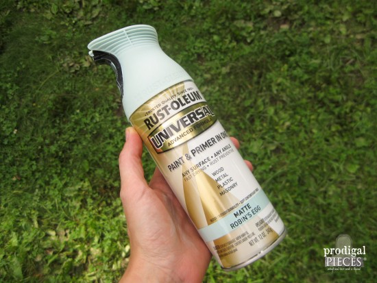 Rustoleum Robin's Egg Blue Spray Paint | Prodigal Pieces | www.prodigalpieces.com