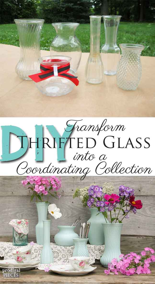 DIY: Thrift Store Glass into Coordinating Collection by Prodigal Pieces | prodigalpieces.com