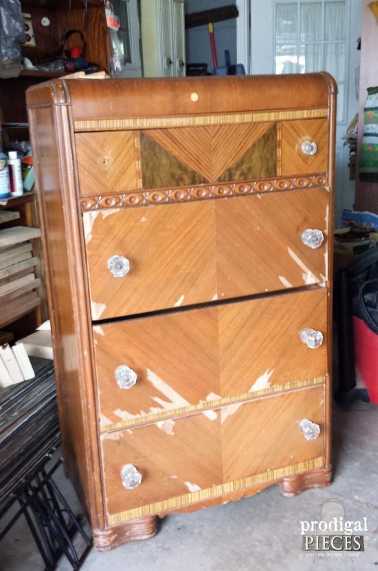 Art Deco Waterfall Dresser Before | Prodigal Pieces | prodigalpieces.com