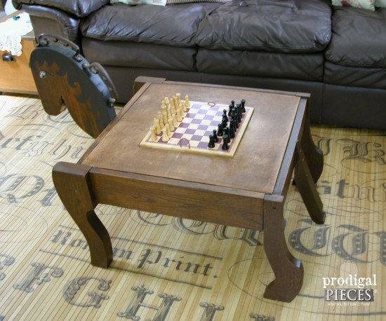 Farmhouse Style Game Room Table by Larissa of Prodigal Pieces | prodigalpieces.com