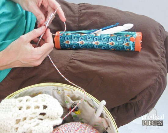 Duct Tape Zippered Pouch for Crochet | prodigalpieces.com
