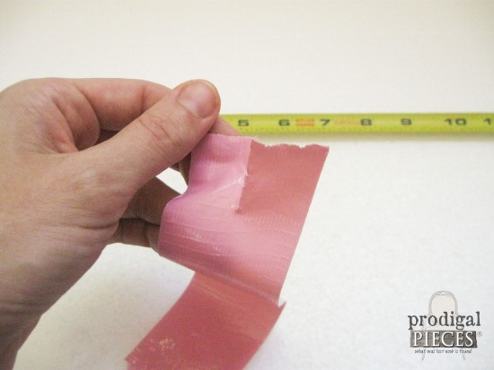 Cutting Duct Tape in Half | prodigalpieces.com