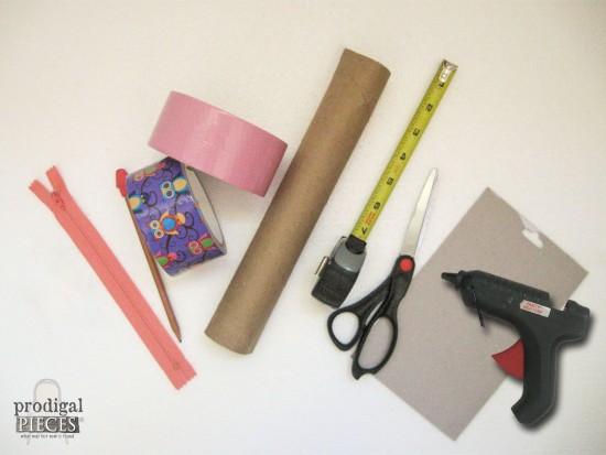 Supplies for DIY Zippered Pouch Pencil Case | prodigalpieces.com