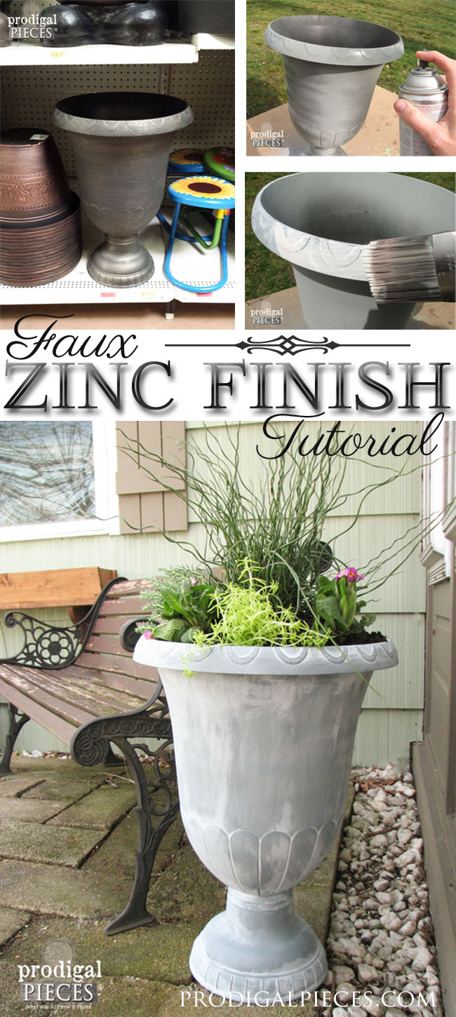 Create the look of French Zinc with some simple materials. DIY tutorial at Prodigal Pieces | prodigalpieces.com