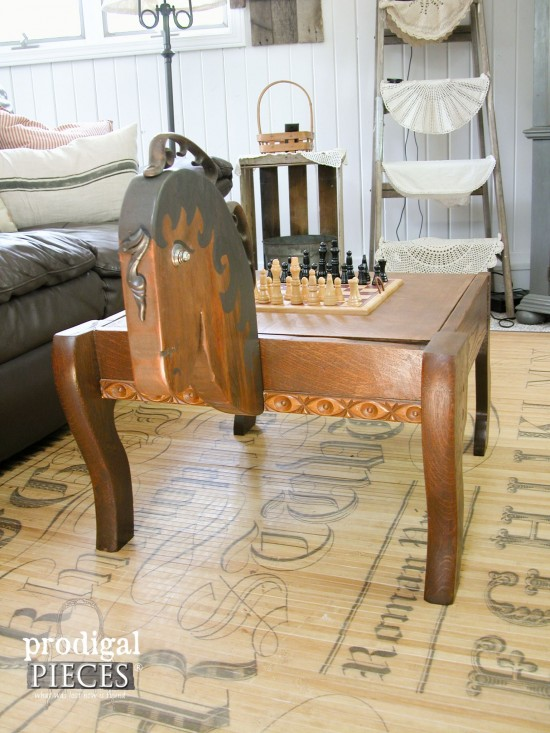 Whimsical Horse Game Table by Larissa of Prodigal Pieces | prodigalpieces.com
