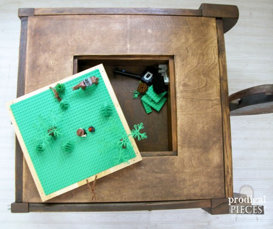 Inside Lego Storage Table by Prodigal Pieces | prodigalpieces.com