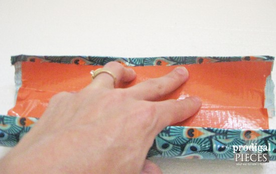 Inside of Lined Upcycled Pouch | prodigalpieces.com