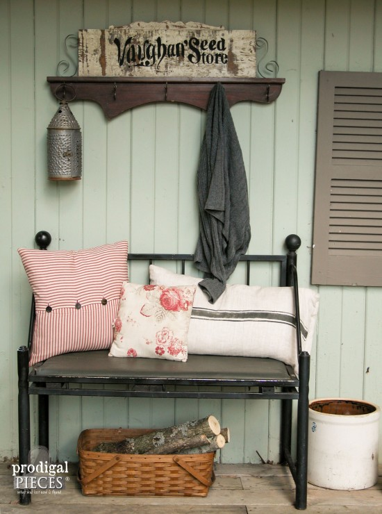 Create a repurposed (funky junk) coat rack using cast off barn wood and furniture pieces by Prodigal Pieces www.prodigalpieces.com #prodigalpieces