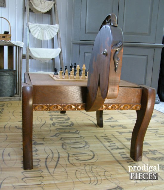 Rustic Farmhouse Horse Game Table built by Larissa of Prodigal Pieces | prodigalpieces.com