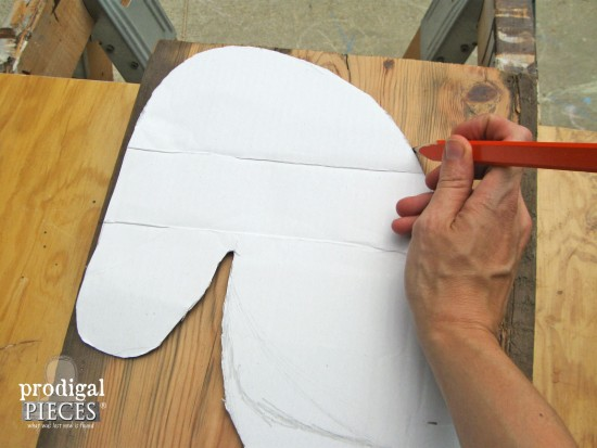 Tracing Horse Head for Game Table | prodigalpieces.com
