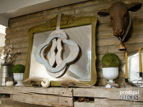 Architectural Salvage for Fall Mantel Decor by Larissa of Prodigal Pieces | prodigalpieces.com #prodigalpieces