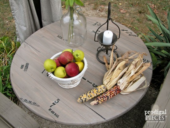 Faux Crate Table for Patio Decor by Prodigal Pieces | prodigalpieces.com