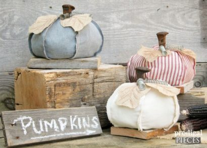 Repurposed Railroad Spike Pumpkins by Prodigal Pieces | www.prodigalpieces.com