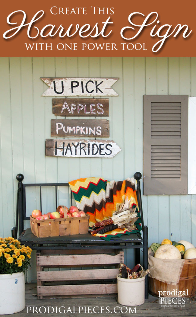 DIY Harvest Sign from Reclaimed or New Wood by Prodigal Pieces www.prodigalpieces.com