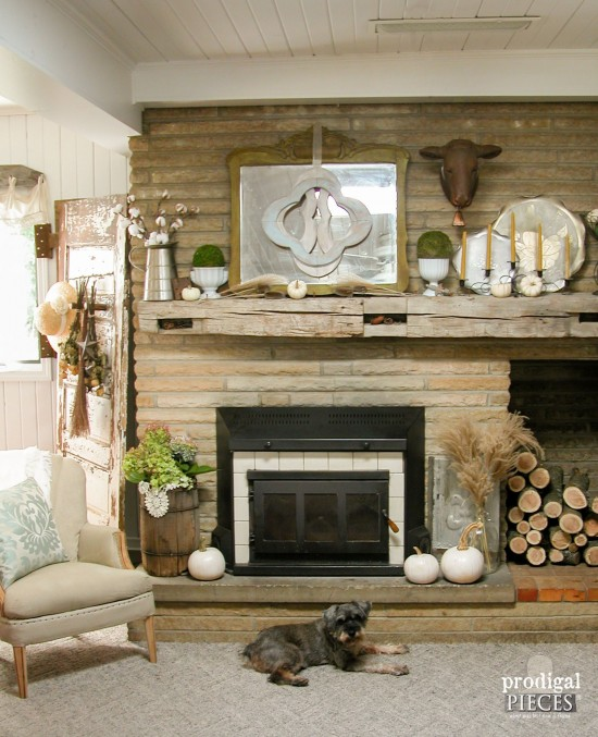 Fall Mantel Decor for Farmhouse Style by Larissa of Prodigal Pieces | prodigalpieces.com #prodigalpieces