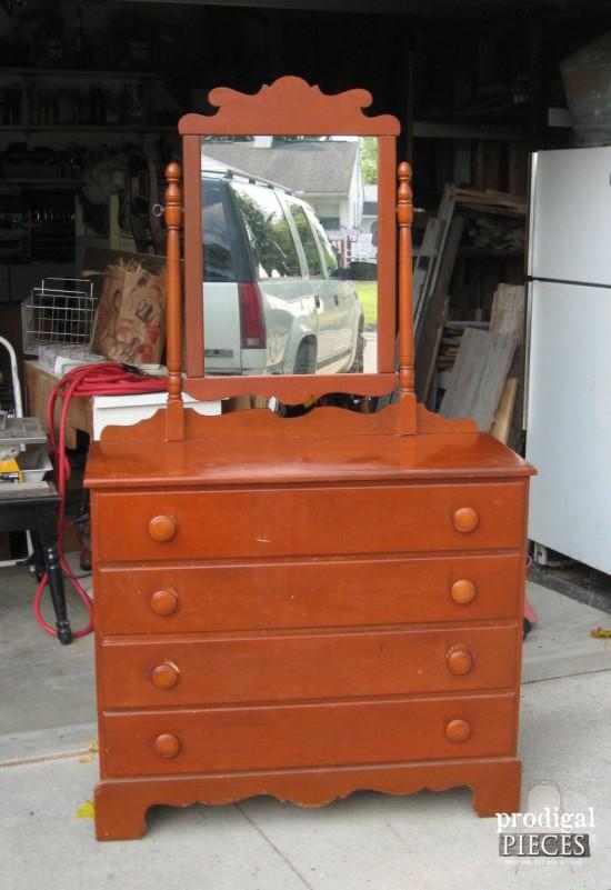 Vintage Dresser Before Makeover | prodigalpieces.com