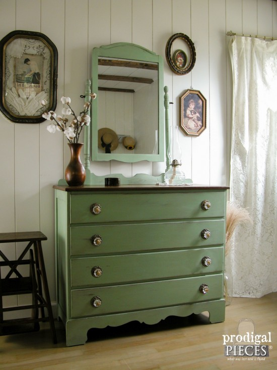 Prairie Charm Green Painted Dresser