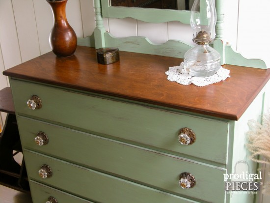 Prairie Style Vintage Dresser by Larissa of Prodigal Pieces | prodigalpieces.com
