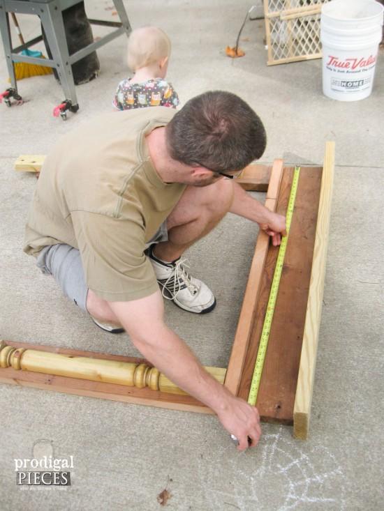 Measuring Faux Fireplace Mantel | prodigalpieces.com