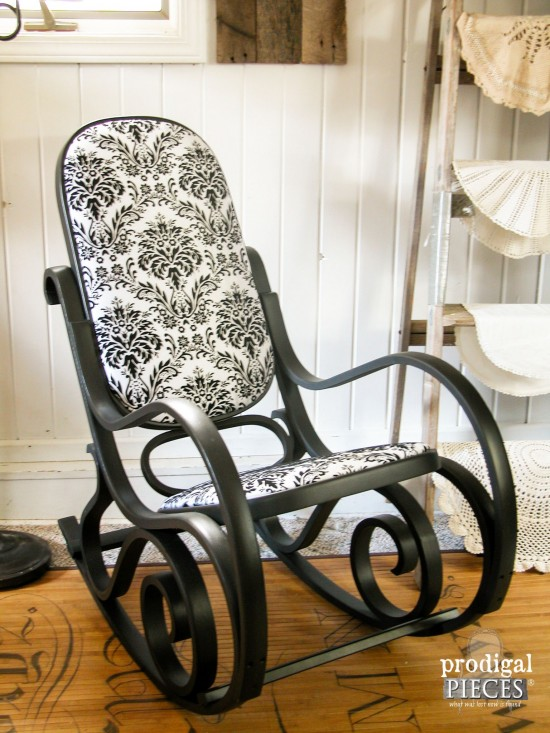Rocker Found Curbside Turned Black Beauty Prodigal Pieces. Wooden Rocking  Chair Cushions ...
