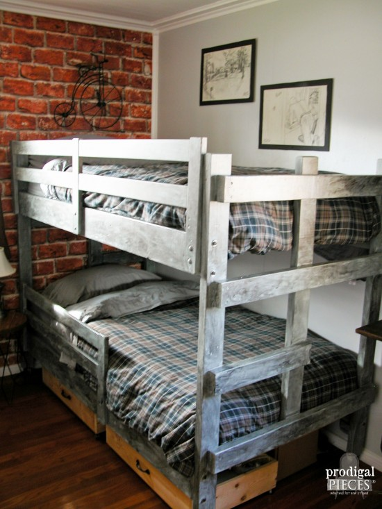 Industrial Style Bunk Beds for Boys Room | prodigalpieces.com