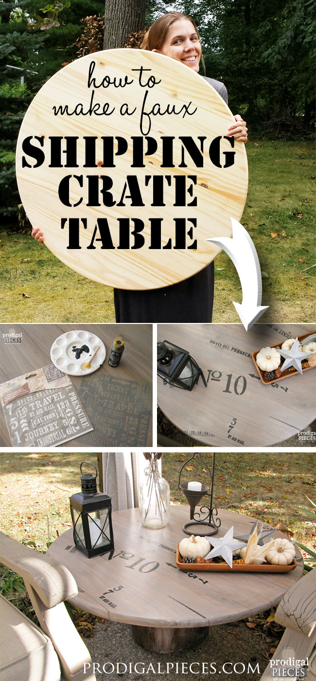 DIY a Faux Shipping Crate Table by Prodigal Pieces | www.prodigalpieces.com