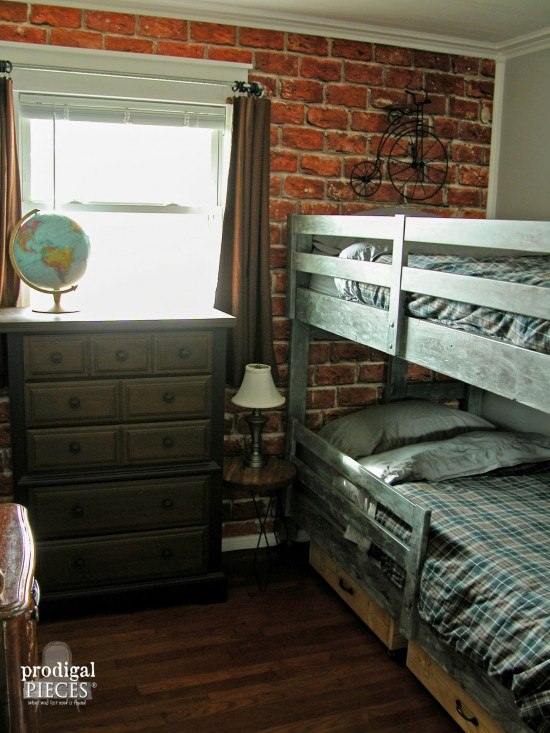 Vintage Style Teen Boys Room by Larissa of Prodigal Pieces | prodigalpieces.com