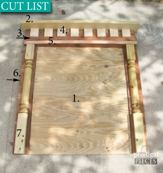 Cut List for Faux Fireplace by Prodigal Pieces | prodigalpieces.com #prodigalpieces