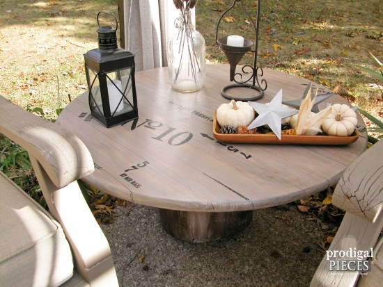 Fabulous You can create a faux industrial shipping crate table using a wood round from Home Depot