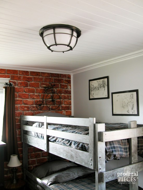 Light Fixture for teen boys' room makeover by Prodigal Pieces | prodigalpieces.com #prodigalpieces