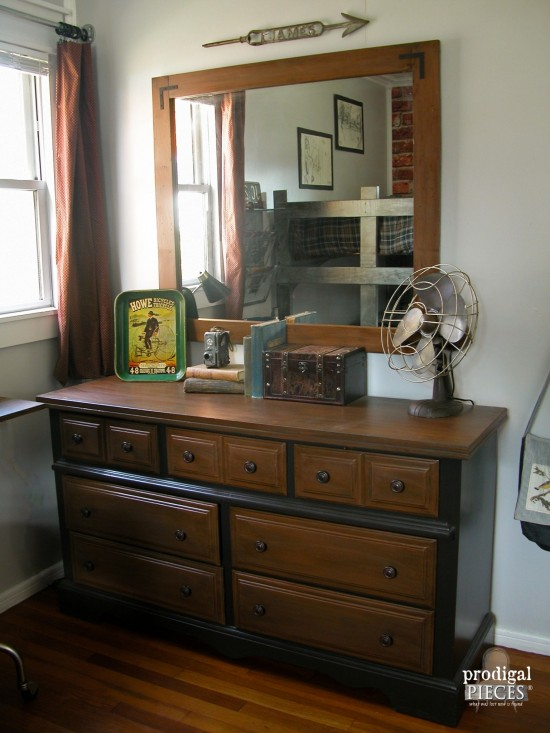 Vintage Industrial Style Dresser for Teen Boys' Room Makeover by Prodigal Pieces | prodigalpieces.com