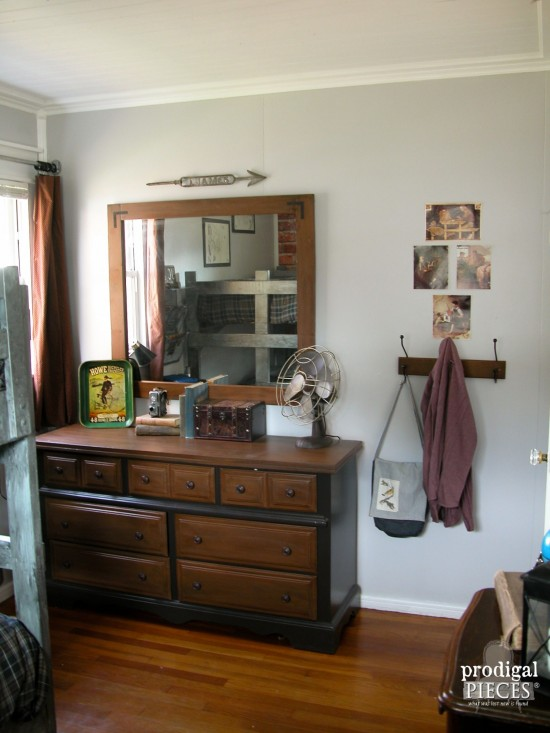 A teen boys' room with vintage style by Larissa of Prodigal Pieces | prodigalpieces.com