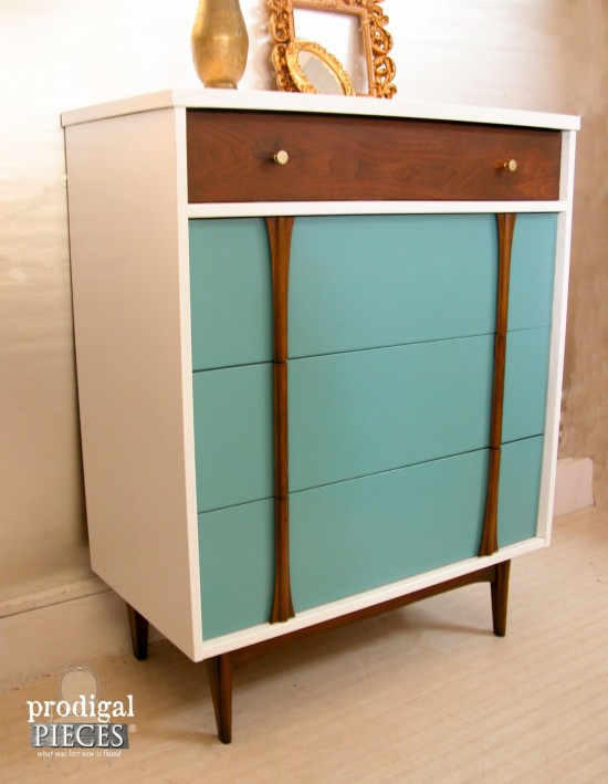 Sleek Design with Modern Style added to this Mid Century Chest of Drawers by Prodigal Pieces | prodigalpieces.com