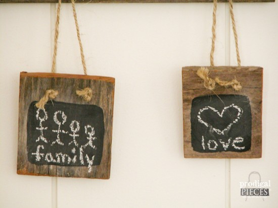 Mini Chalkboards made from Barn Wood by Prodigal Pieces | www.prodigalpieces.com