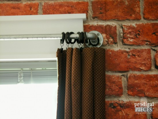 Industrial Pipe Curtain Rods by Prodigal Pieces | prodigalpieces.com