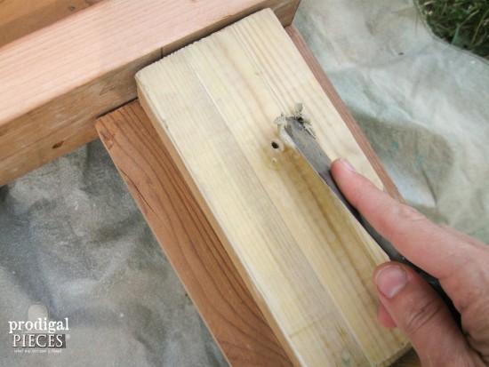 Applying Wood Filler | prodigalpieces.com