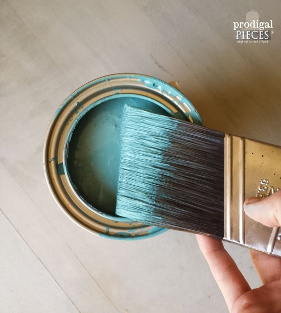 Blue Paint for Mid Century to Modern Style Makeover | Prodigal Pieces | prodigalpieces.com