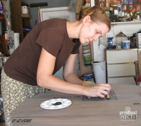 Larissa of Prodigal Pieces Stenciling | prodigalpieces.com