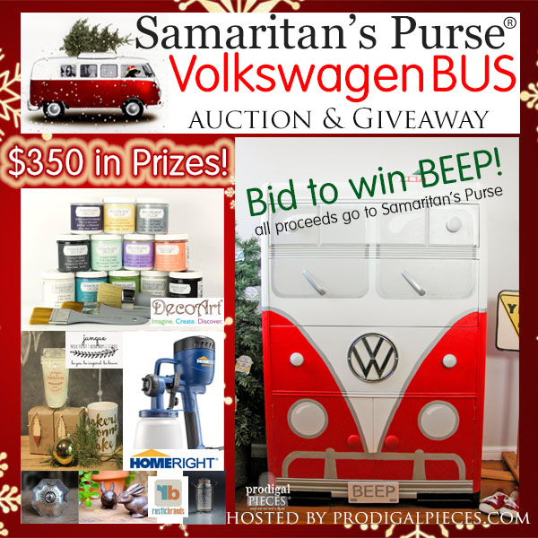 Benefit auction for Samaritan's Purse - Bid to win this Volkswagen Bus Chest of Drawers BEEP II and Enter to win $350 in prizes!! by Prodigal Pieces | prodigalpieces.com