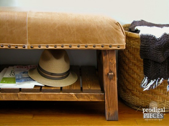 Rustic Leather Bench by Prodigal Pieces | www.prodigalpieces.com