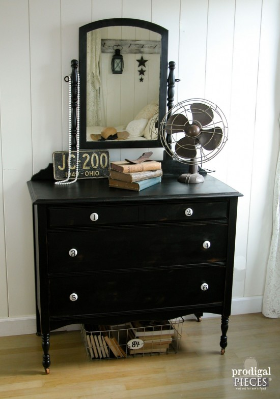An outdated dresser just needs a little TLC and new look to get it back to the classic vintage style by Prodigal Pieces www.prodigalpieces.com