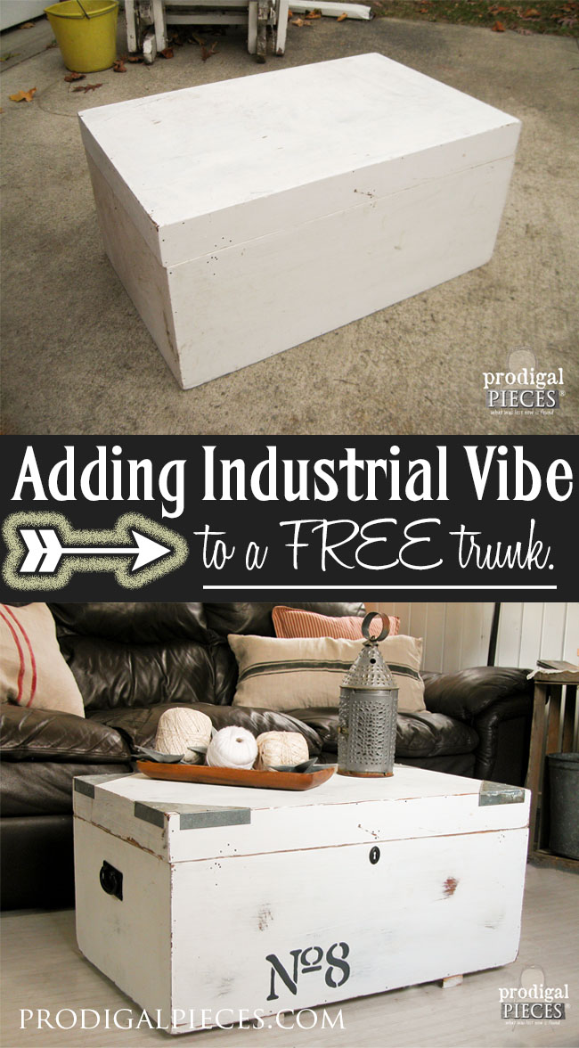Free Trunk Gets Industrial Makeover by Prodigal Pieces | www.prodigalpieces.com